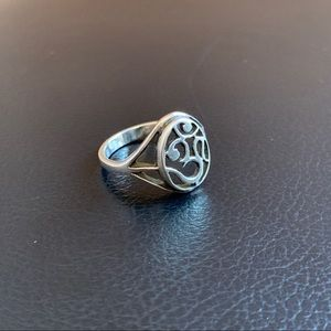 Pure silver AUM OM 🕉 ring size 8